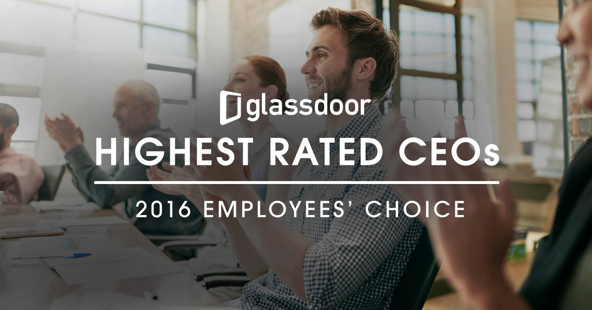ceo ranking glassdoor 2016