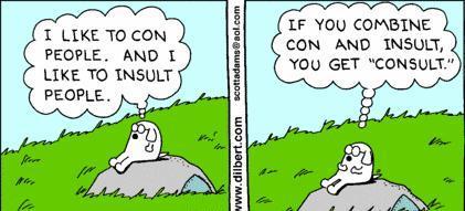 Dilbert, ingénieur au sein d'une multinationale