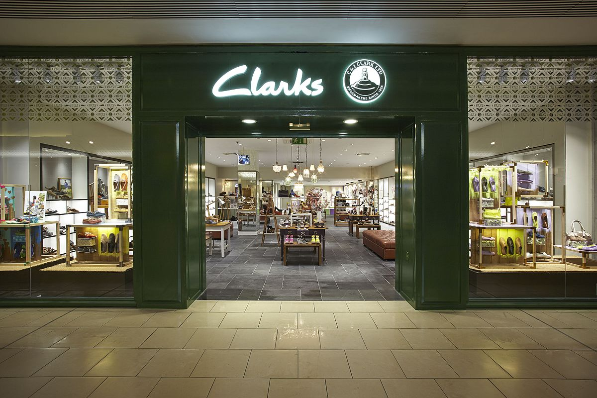 Clarks shop front Lakeside May 14