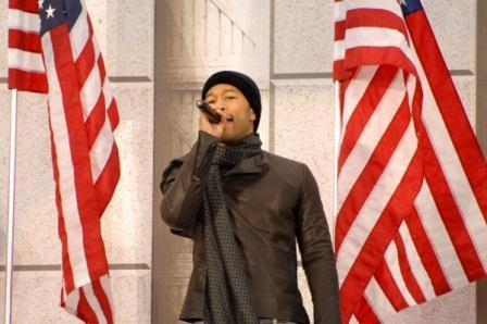 John Legend during the inaugural opening ceremonies