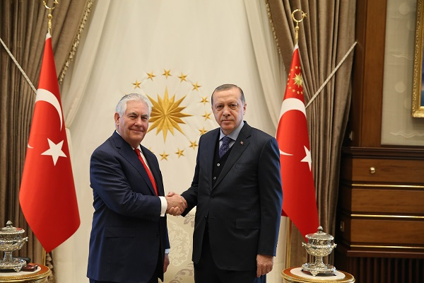 Secretary Tillerson Meets with Turkish President Erdogan in Ankara 32921677663